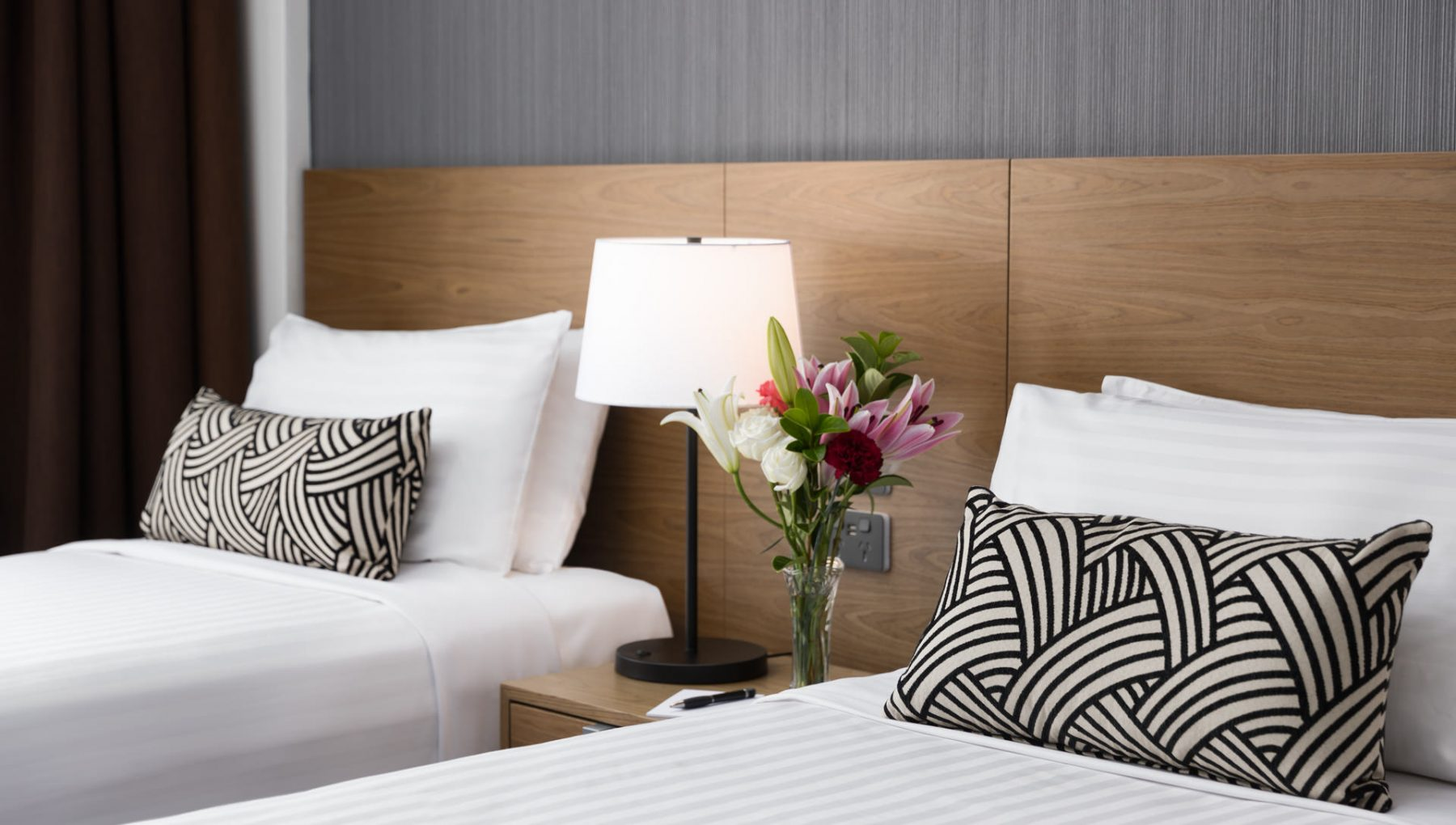 Rydges Camperdown - Plait Black Cushions by HotelHome