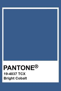 Pantone colour Bright Cobalt