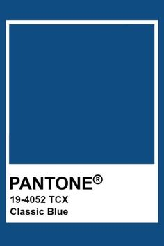 2020 Pantone colour of the year Classic Blue