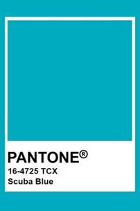 Pantone colour Scuba Blue