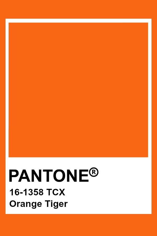 Pantone - Orange Tiger