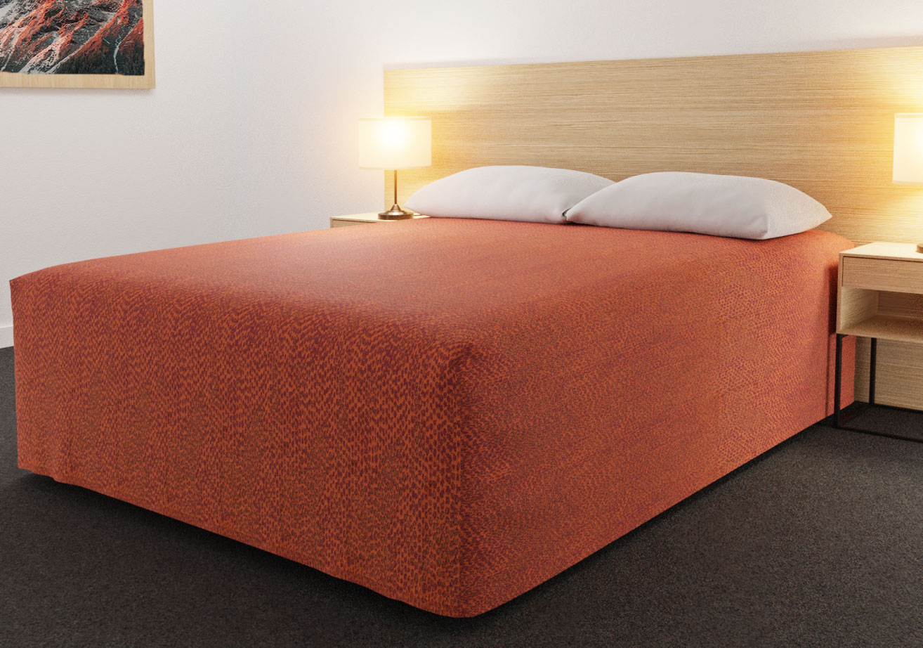 Practical Fitted Bed Cover - Full Drop - Flat Top Style - Rattler (Reverse Side) Tango