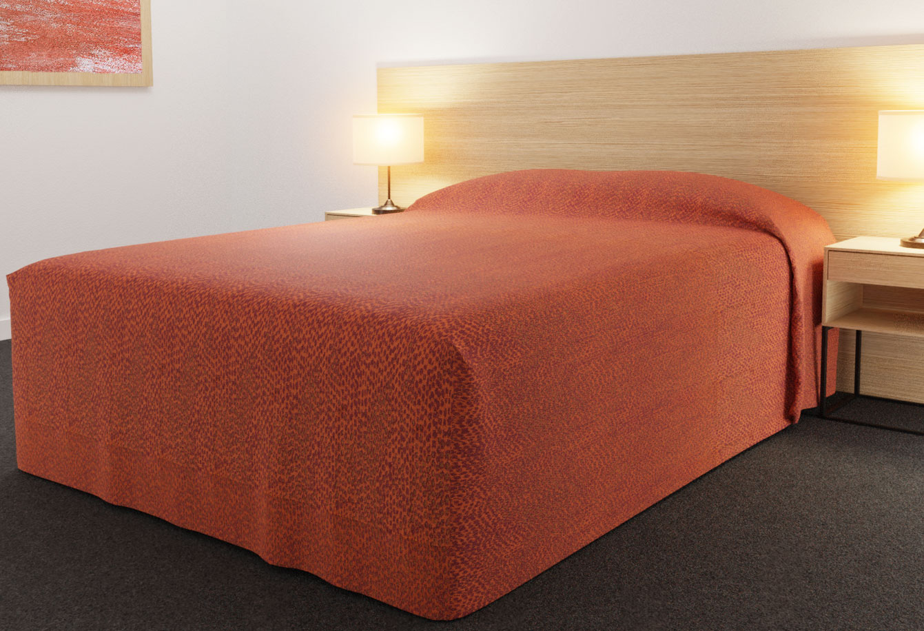 Practical Fitted Bed Cover - Full Drop - Semi Long Top Style - Rattler (Reverse Side) Tango