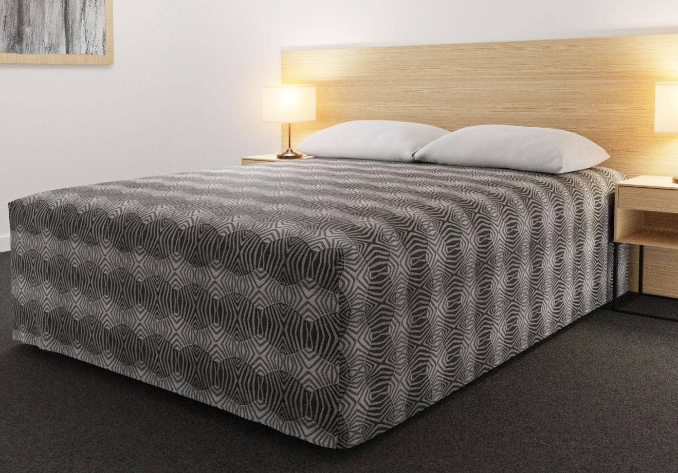 Practical Fitted Bed Cover - Full Drop - Flat Top Style - Tribal Slate
