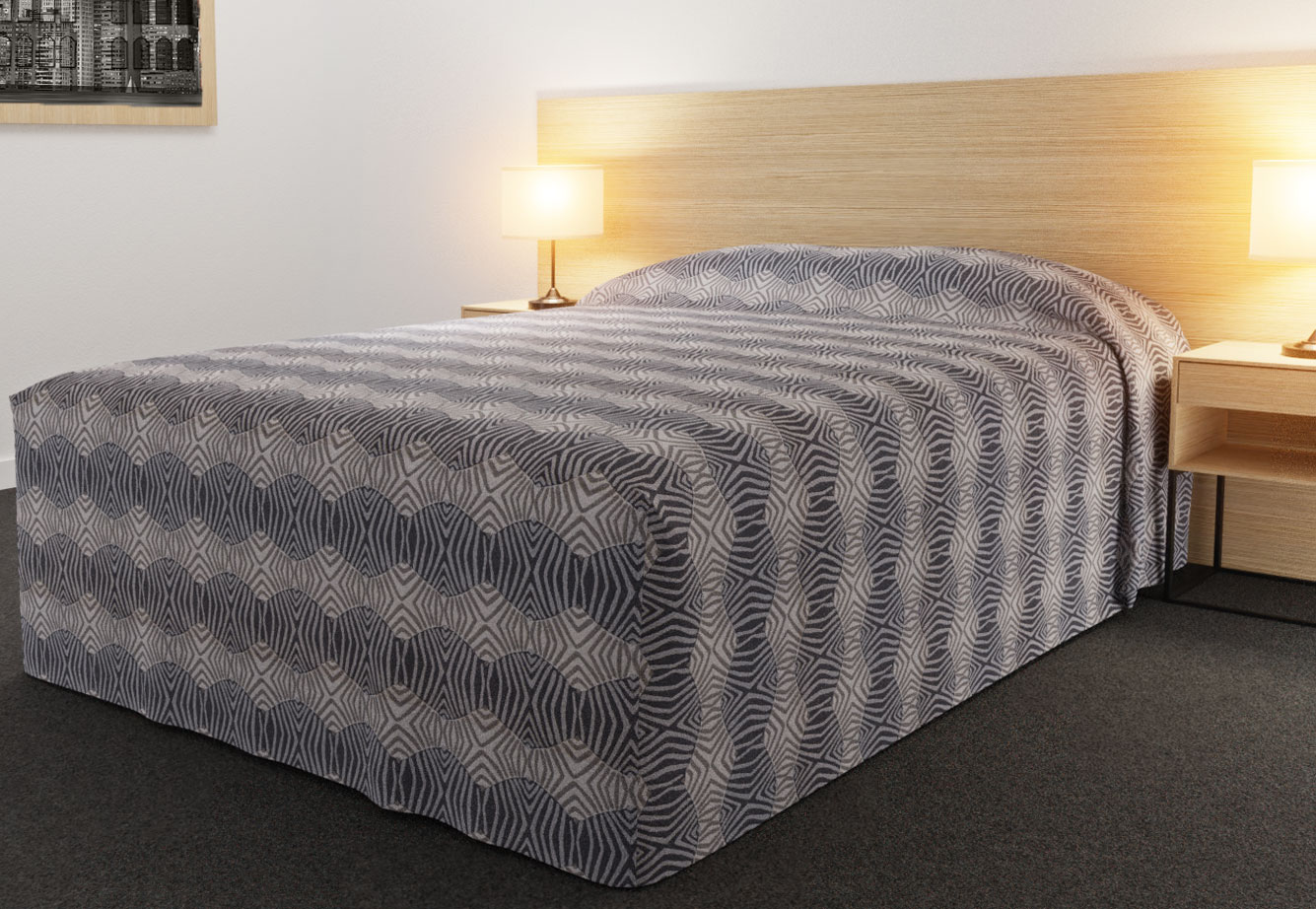 Practical Fitted Bed Cover - Full Drop - Semi Long Top Style - Tribal Slate