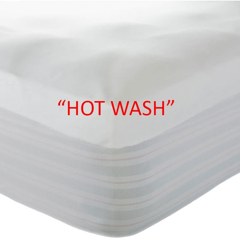 """WATERPROOF """"HOT WASH"""" MATTRESS PROTECTOR (commercial laundry safe)"""