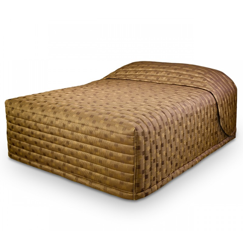 Contempo Standard Bedspread with Milan Brass fabric