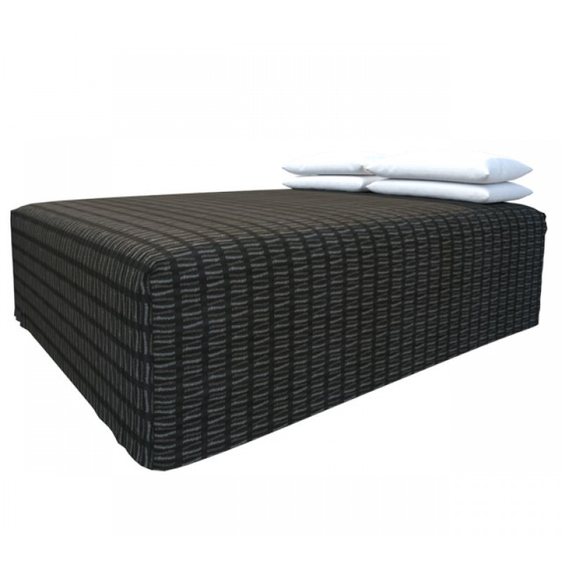 Practical Fitted Flat-Top Bed Cover with Match Slate fabric