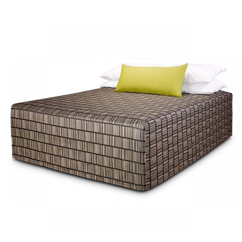 Practical Fitted Flat-Top Full Drop Bed Cover with Vue Pepper  fabric