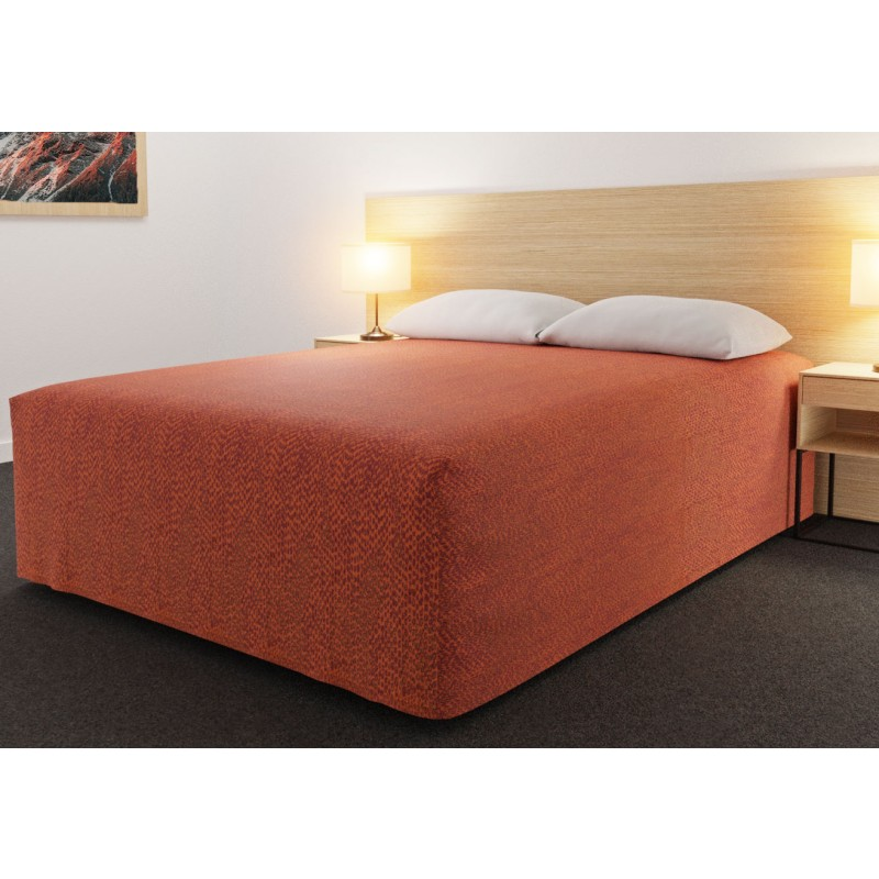 Practical Fitted Flat-Top Full Drop Bed Cover with Rattler Reverse Tango fabric