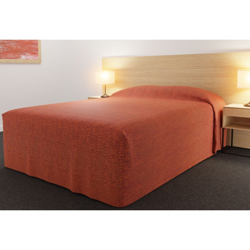 Practical Fitted Bedcover Standard Semi Long Top Full Drop with Rattler Reverse Tango fabric