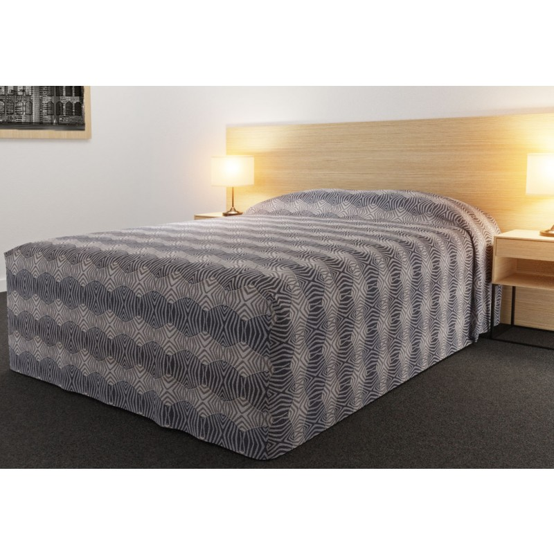 Practical Fitted Bedcover Standard Semi Long Top Full Drop with Tribal Slatefabric