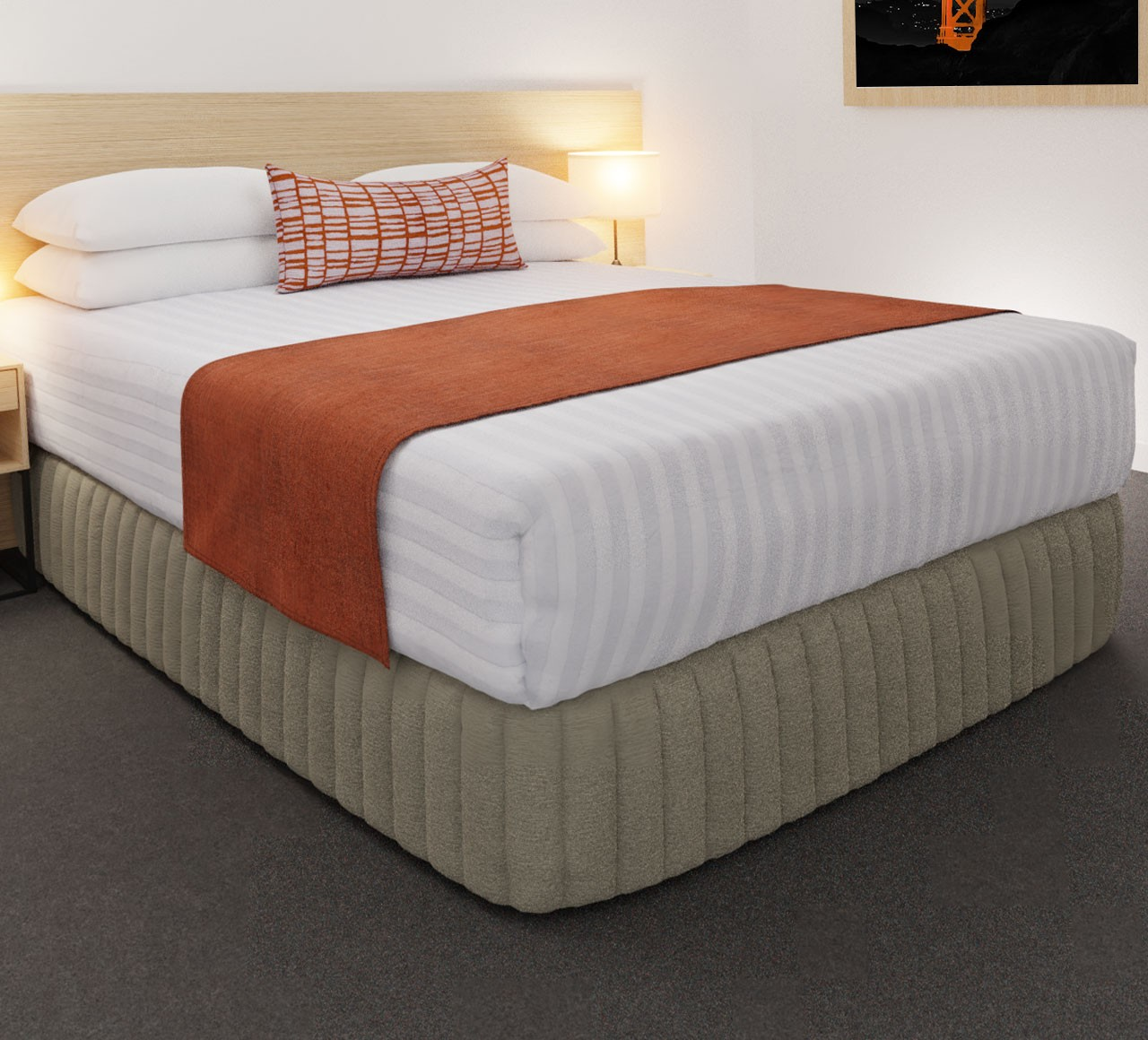 Clipper Coral Luxury STD Runner, with Vue Concept Coral Belair Cushion