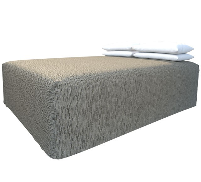 Practical Fitted Flat-Top Full Drop Bed Cover with Lima Black Pepper  fabric