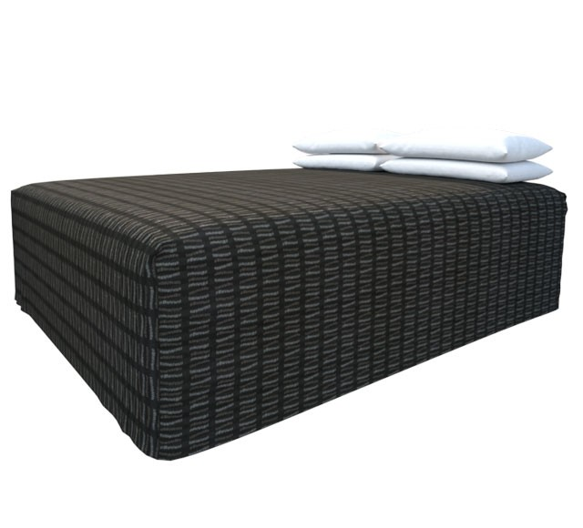 Practical Fitted Flat-Top Full Drop Bed Cover with Match Slate fabric