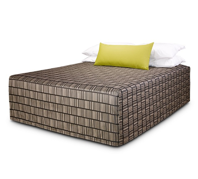 Practical Fitted Flat-Top Bed Cover with Vue Pepper fabric