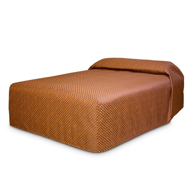 Practical Fitted Bedcover Standard Semi Long Top Full Drop with Checkmate Jaffa fabric