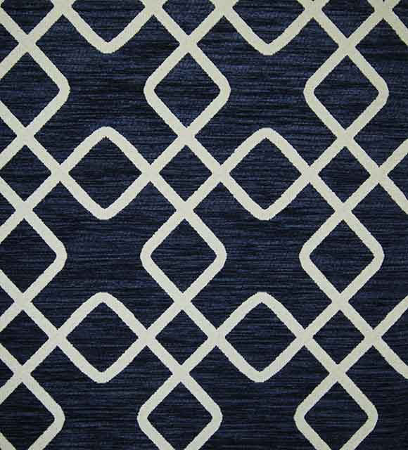 Chain Indigo Luxury Chenille Fabric