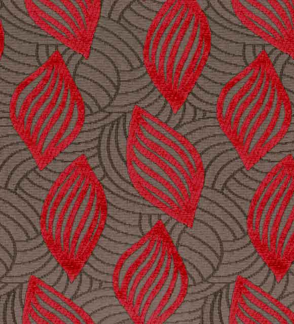 HotelHome Fabric - Design: Concha, Colour: Flame