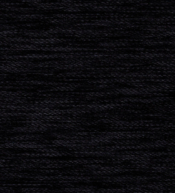 HoteHome Luxury Chenille Fabric - Diva Plain Black