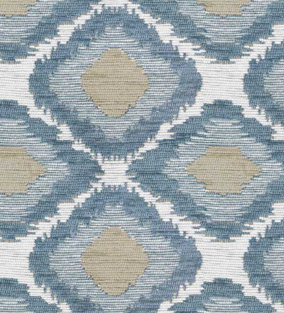 HotelHome Fabric - Design: Ikat, Colour: Blue Mist