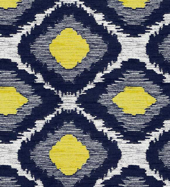 HotelHome Fabric - Design: Ikat, Colour: Citrus Ink