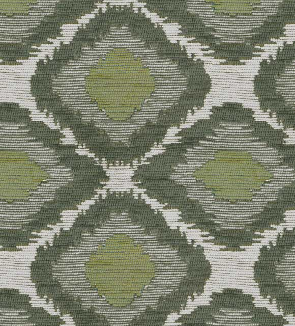 Ikat Olive Luxury Chenille Fabric