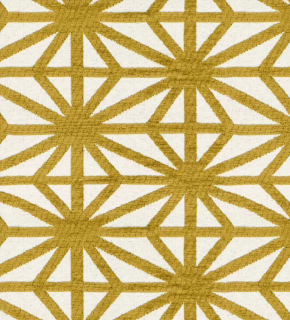 HotelHome Fabric - Design: Starburst, Colour: Gold