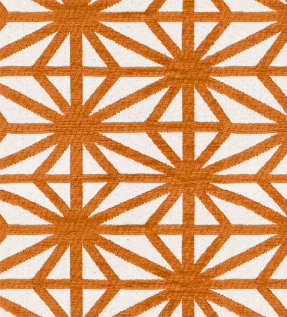HotelHome Fabric - Design: Starburst, Colour: Tango