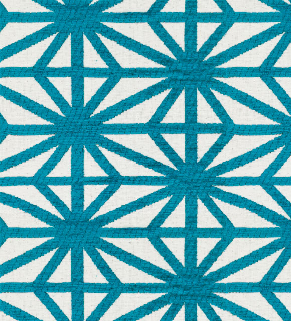 HotelHome Fabric - Design: Starburst, Colour: Turquoise