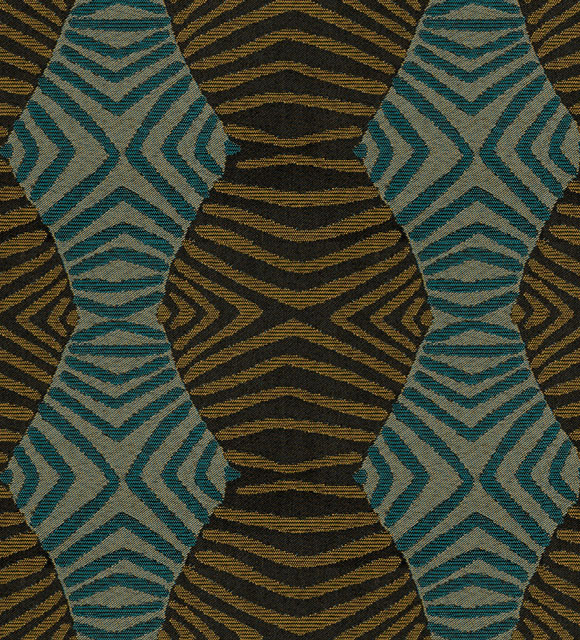 Tribal Gold Teal