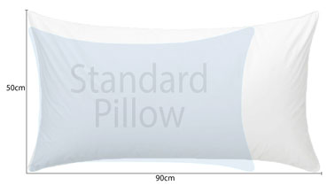 Microball Resort King Pillow compared with a Standard size pillow