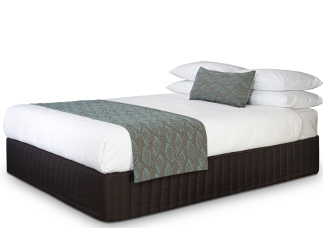Concha Aqua Taupe Runner and Bel-Air cushion