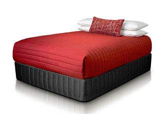 Temple Coverlet - Mondo Red